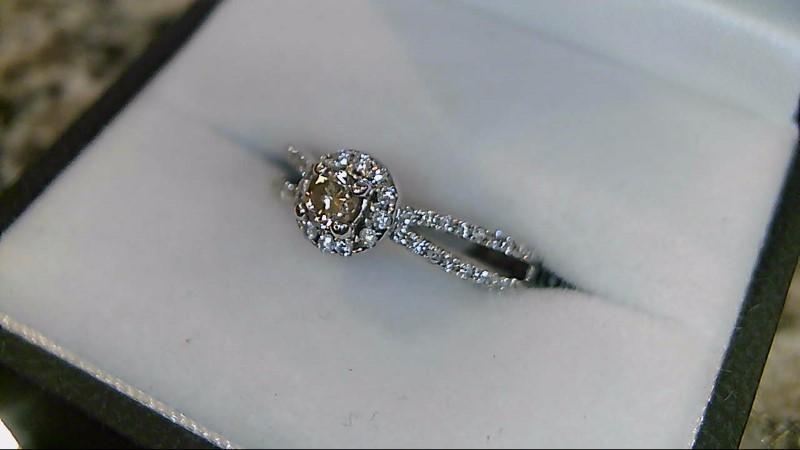Lady's Diamond Wedding Band 46 Diamonds .355 Carat T.W. 14K White Gold 3.4g