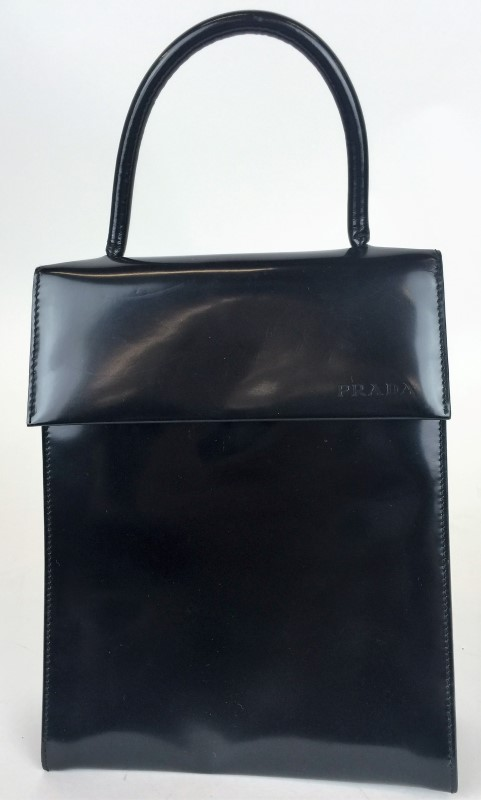 PRADA SPAZZOLATO TOP HANDLE HANDBAG