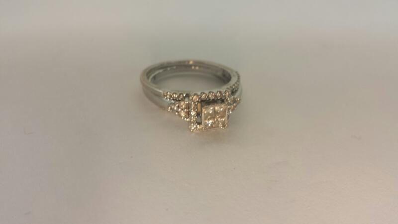 10K-W/G Three Piece Bridal Set