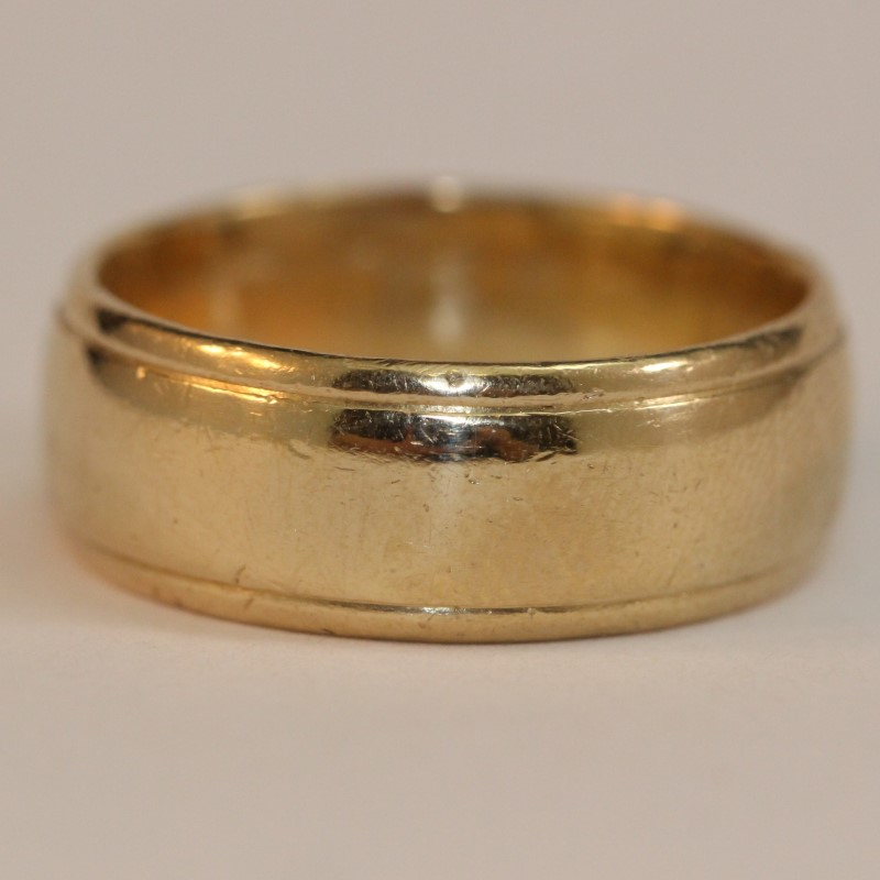 Gent's Gold Wedding Band 14K Yellow Gold 11.4g Size:10.5