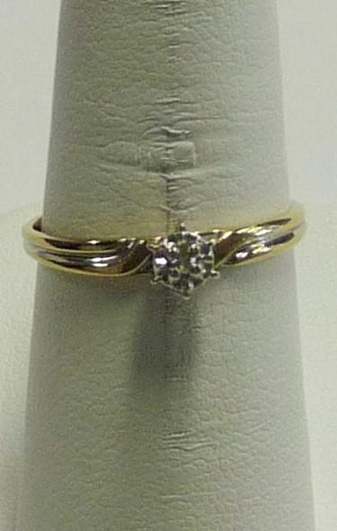 Lady's Diamond Engagement Ring .01 CT. 10K Yellow Gold 0.75dwt
