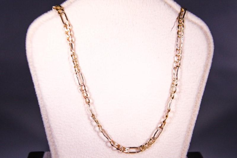 """20"""" Gold Figaro Chain 14K Yellow Gold 4.6g"""
