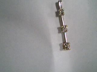 Gold-Multi-Diamond Pendant 3 Diamonds .23 Carat T.W. 10K Yellow Gold 1.1g
