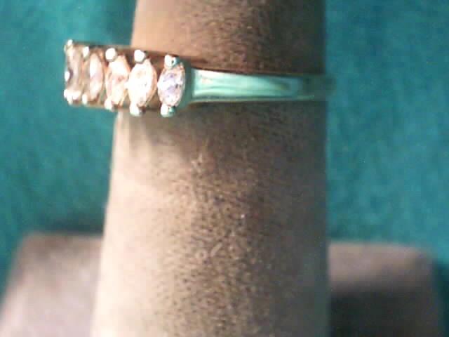 Lady's Diamond Cluster Ring 9 Diamonds .51 Carat T.W. 14K Yellow Gold 1.7dwt