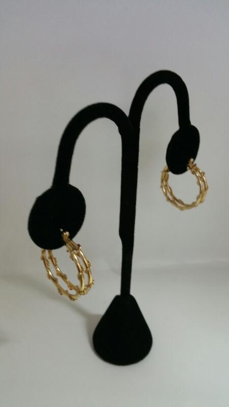 FASHION Gold Earrings 14K Yellow Gold 2.8dwt