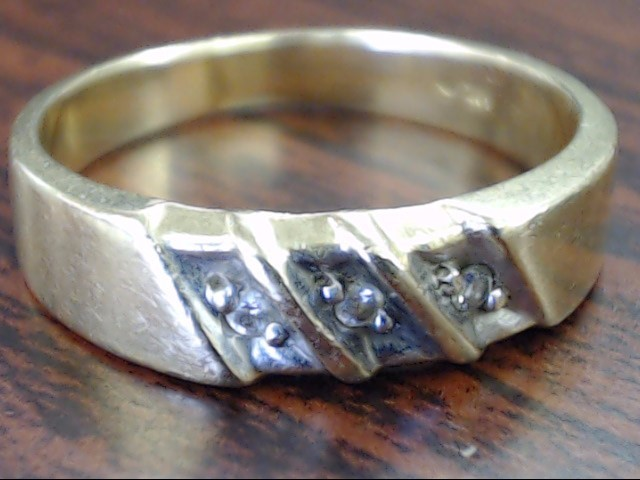 VINTAGE DIAMOND RING BAND SOLID REAL 14K GOLD WED ANNIVERSARY SZ 7.5