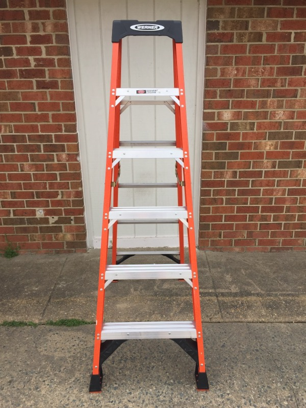"WERNER 6' FOLDING LADDER NXT1A06 10' MAX REACH 3'10"" HIGHEST STANDING"