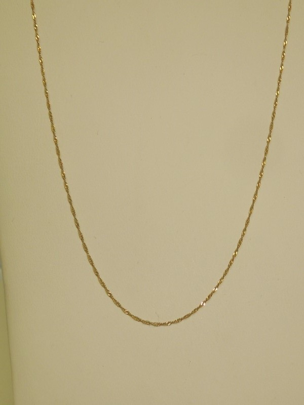 "16"" Gold Fine Chain 10K Yellow Gold 0.7g"