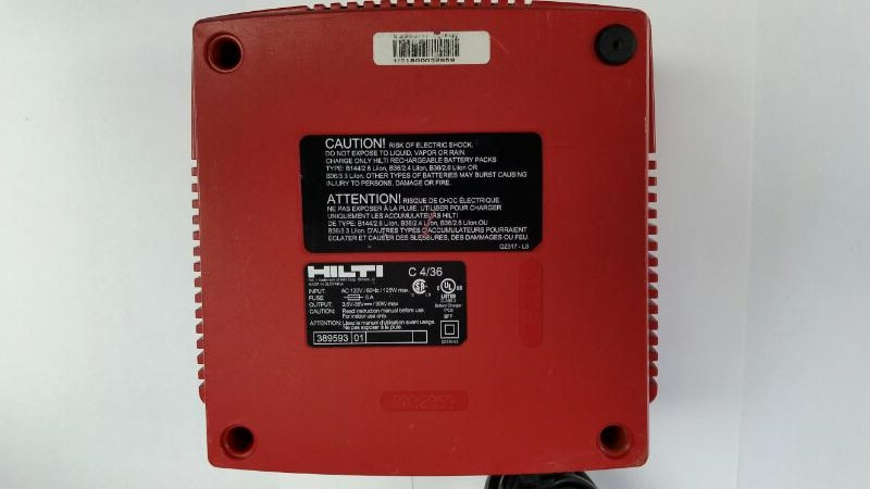 Hilti C 4/36 18V & 36C Power Tool Battery Charger