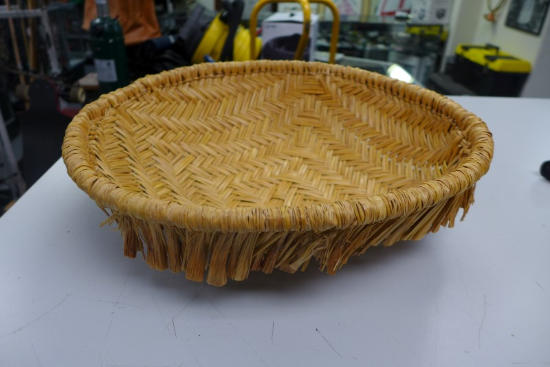 NATIVE AMERICAN HAND WOOVEN BASKET
