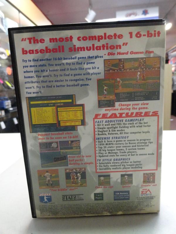Tony La Russa Baseball '95 - Sega