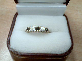 Synthetic Sapphire Lady's Stone Ring 10K Yellow Gold 2.1g