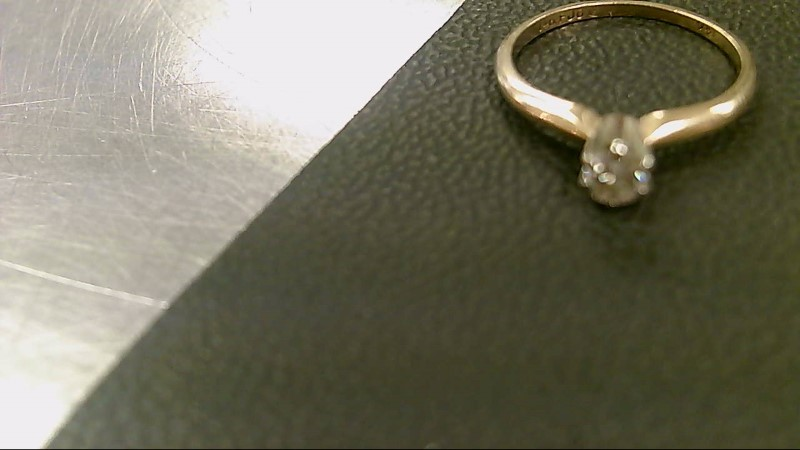 Lady's Diamond Solitaire Ring .20 CT. 14K Yellow Gold 1.7g