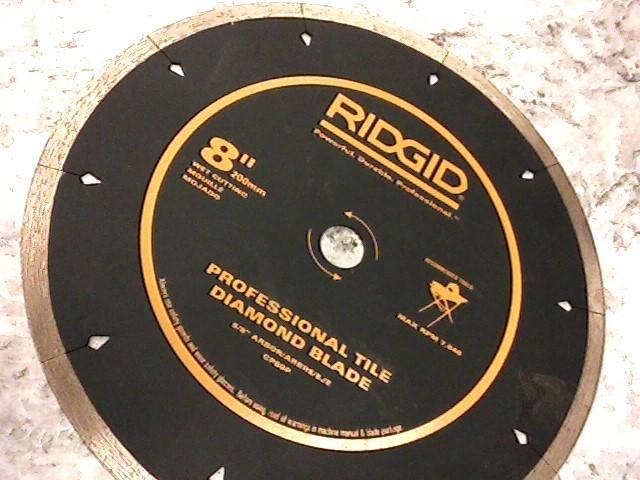 "RIDGID 8"" TILE DIAMOND BLADE"