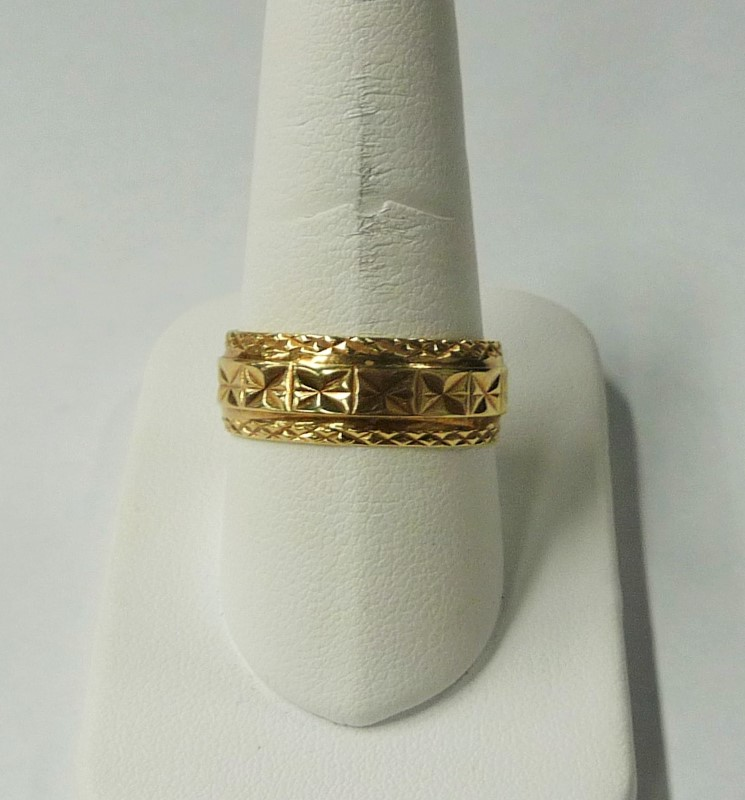 Gent's Gold Celtic Ring 14K 2 Tone Gold 4.58dwt