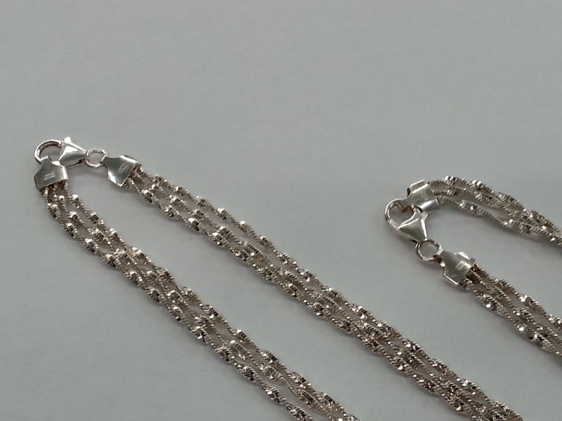 "17"" FASHION CHAIN & 7.5"" MATCHING BRACELET"
