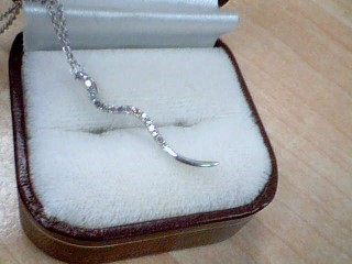 Diamond Necklace 14 Diamonds .14 Carat T.W. 925 Silver 1.6g