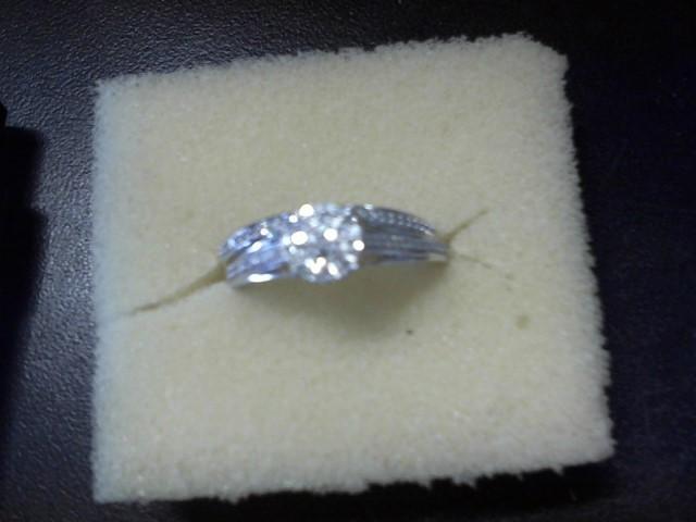 Lady's Diamond Wedding Set 79 Diamonds .395 Carat T.W. 10K White Gold 3.8g