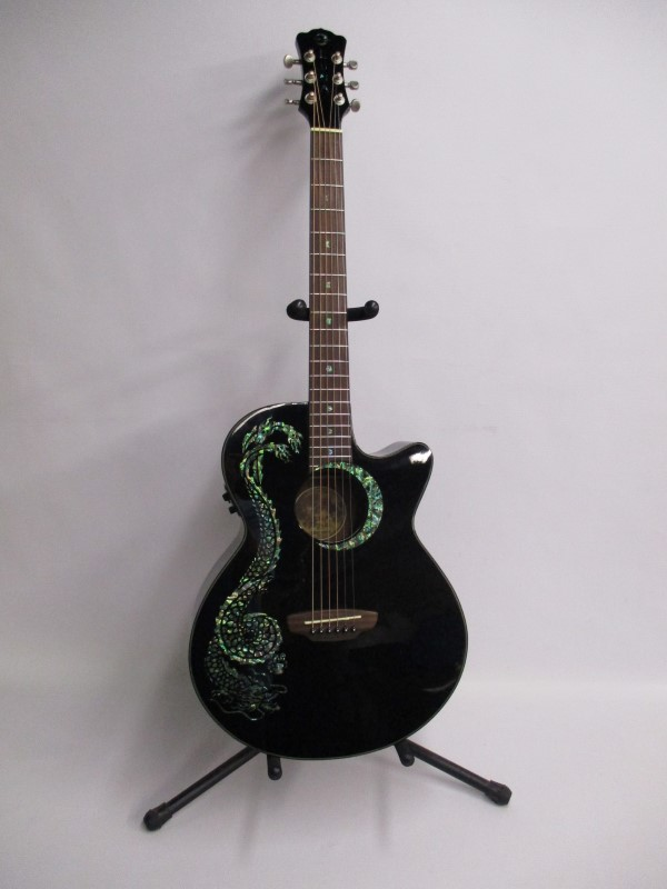 LUNA FAUNA DRAGON E/A GUITAR - USED - EXCELLENT W/HSC
