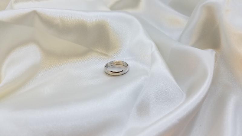 Lady's Gold Wedding Band 14K White Gold 3.5g Size:8