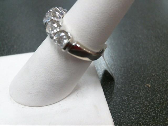 Lady's Gold-Diamond Anniversary Ring 5 Diamonds 2.00 Carat T.W. 14K White Gold