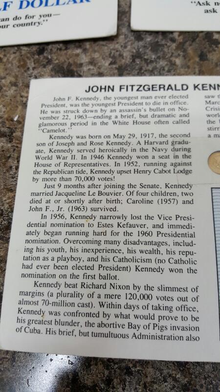 Lot of Five (5) Solid 14K Gold 9mm John F Kennedy Memorial Half Dollars