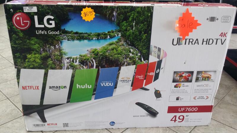 LG Flat Panel Television 49UF7600