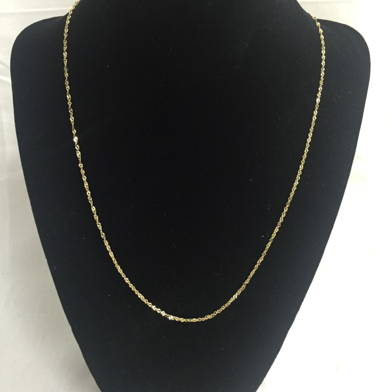 "20"" Gold Fine Chain 14K Yellow Gold 1dwt"