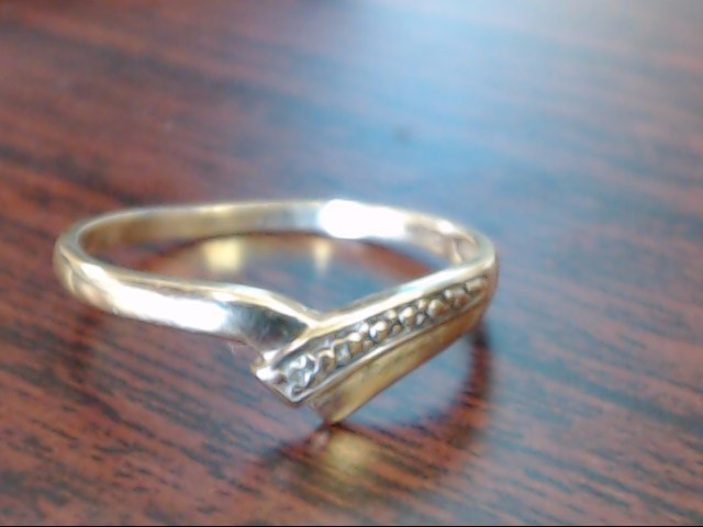 Lady's Gold Ring 10K Yellow Gold 1.1g Size:6.8