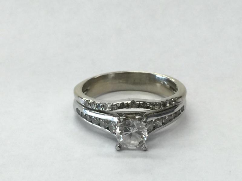 Lady's Diamond Wedding Set 29 Diamonds .61 Carat T.W. 14K White Gold 4.6dwt