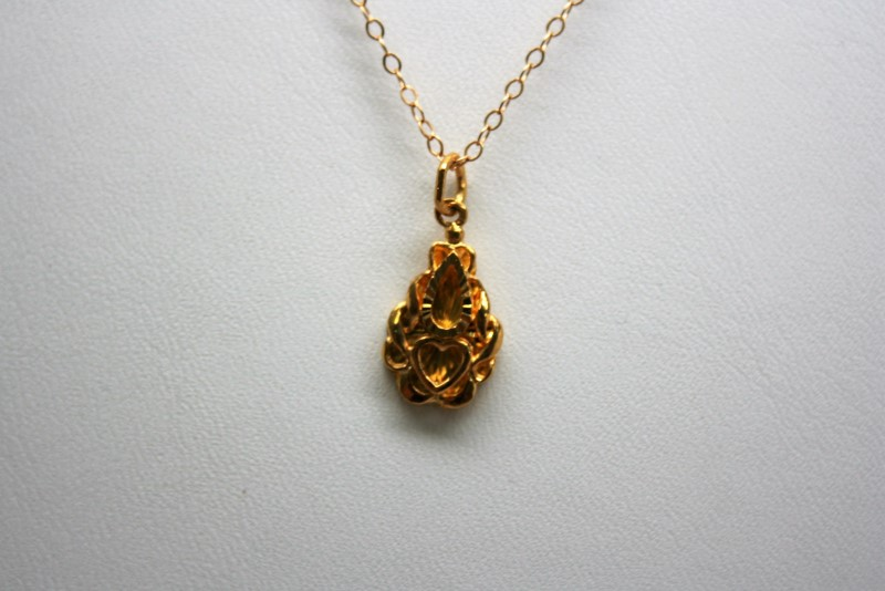 HEART DESIGN 24K YELLOW GOLD PENDANT