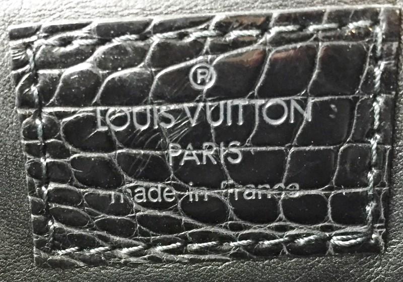 LOUIS VUITTON BLACK VELOUR GRACIE VELVET ALLIGATOR BAG