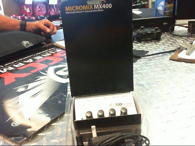 BEHRINGER Musical Instruments Part/Accessory MX400 4-CHANNEL LINE MIXER