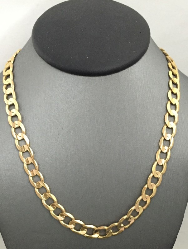 "22"" Gold Curb Chain 14K Yellow Gold 17dwt"