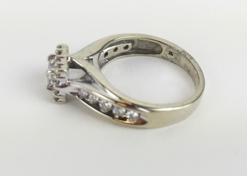 Lady's Diamond Engagement Ring .78 CTW 14K White Gold 4.56g