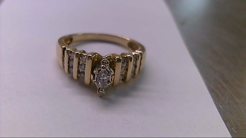 Lady's Diamond Solitaire Ring 19 Diamonds .55 Carat T.W. 14K Yellow Gold 5.5g