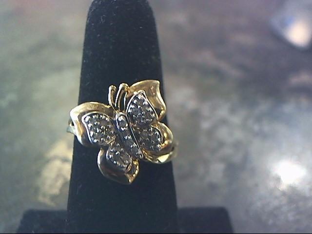 Lady's Diamond Fashion Ring 20 Diamonds .20 Carat T.W. 10K Yellow Gold 2dwt