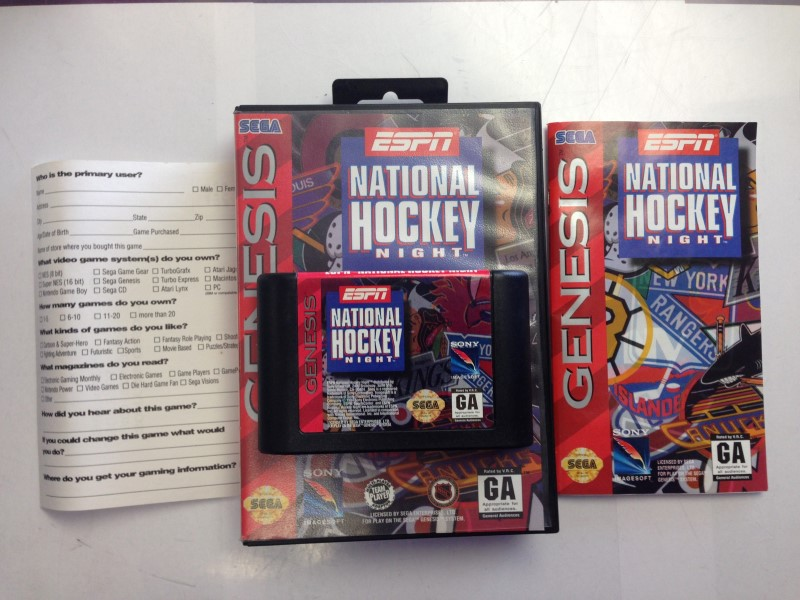 ESPN National Hockey Night (Sega Genesis, 1994)