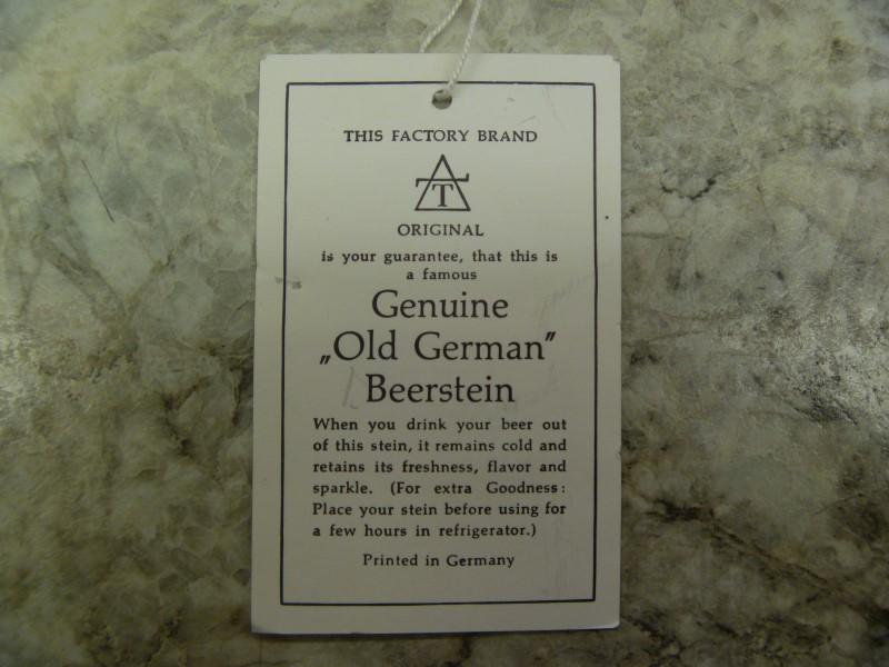 """GENUINE """"OLD GERMAN"""" BEERSTEIN"""