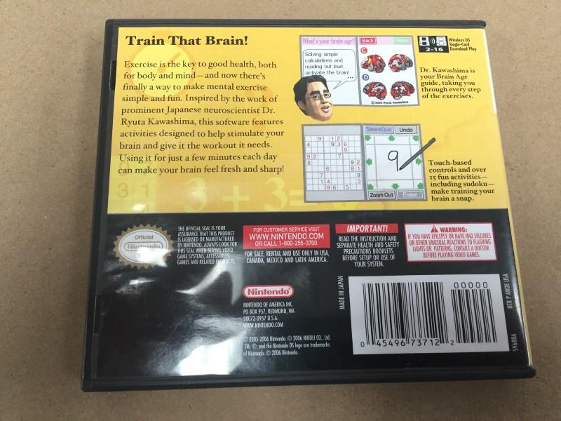 BRAIN AGE (NINTENDO DS, 2006) COMPLETE