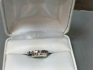 Sapphire Lady's Stone & Diamond Ring 2 Diamonds .010 Carat T.W. 10K White Gold