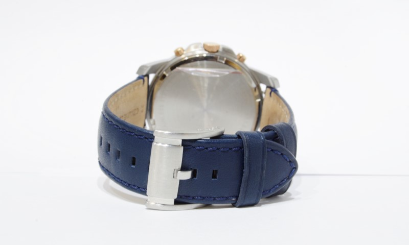 Fossil Grant Chronograph White Dial Blue Leather Quartz Rose Watch