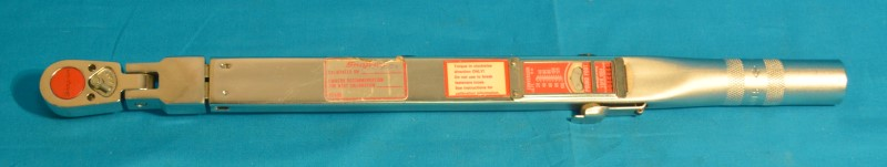 "SNAP ON TQFR100A Flex Head 3/8"" Drive 20-100 ft-lb Torque Wrench w/Case"