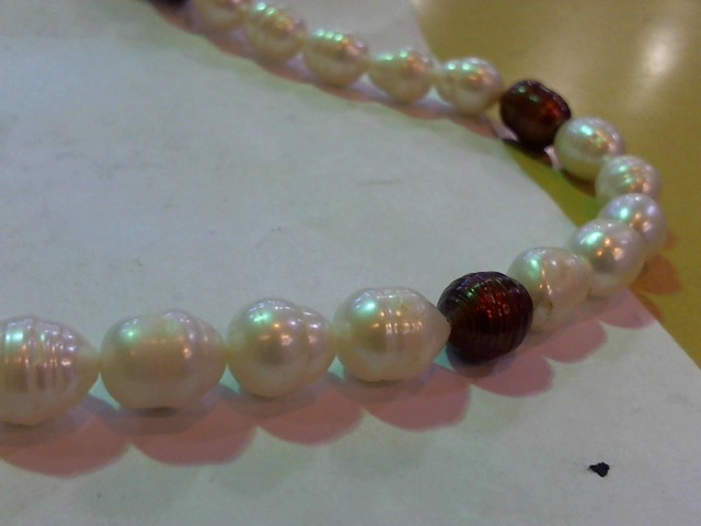Synthetic Pearl Stone Necklace 94.6g