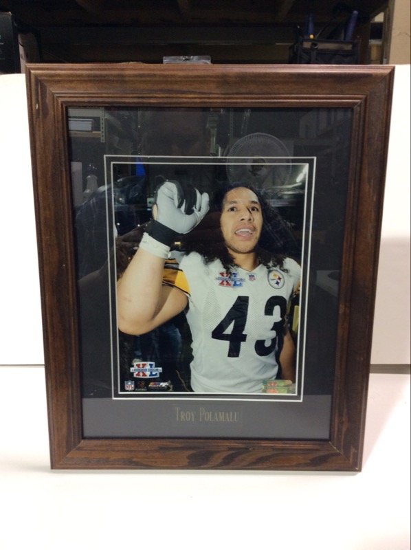Super Bowl Steelers Troy Polamalu Framed Picture