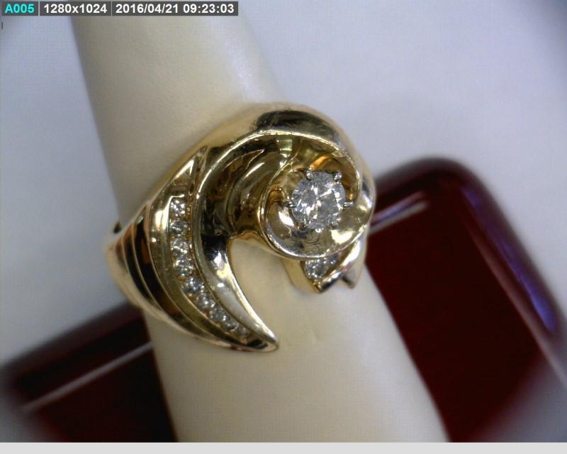 Lady's Diamond Fashion Ring 15 Diamonds .46 Carat T.W. 14K Yellow Gold 6.25dwt