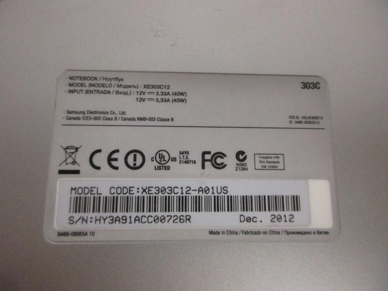 "SAMSUNG XE303C12 11.6"" CHROMEBOOK"
