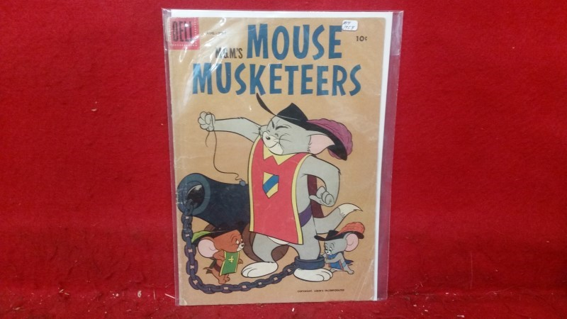 DELL M.G.M's Mouse Musketeers #14 1958 Comic Book