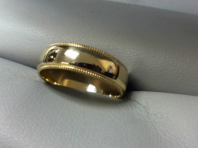 Gent's Gold Wedding Band 14K Yellow Gold 3.4g