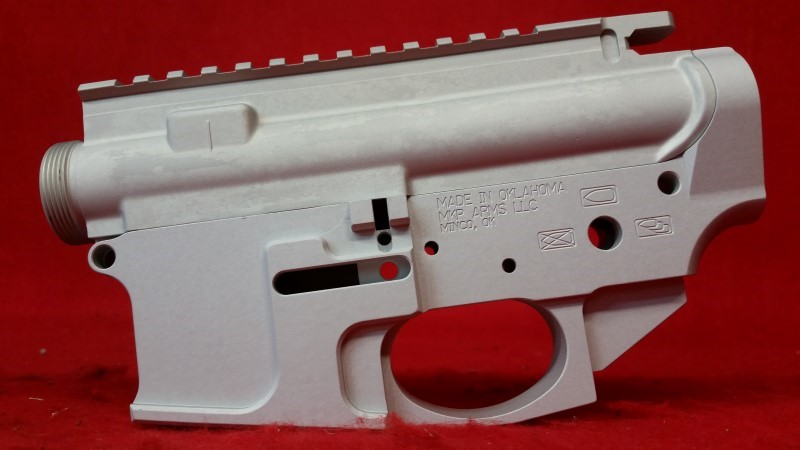 MKP Arms AR Billet Upper/Lower Matched Set - Clear Anodized